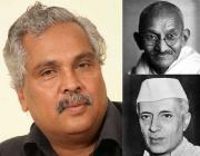 Mahatma Gandhi, Jawaharlal Nehru, Binoy Viswam