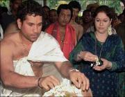 sachin with wife anjali