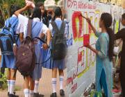 women-wall-students