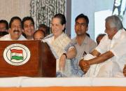 cennithala chandy with sonia