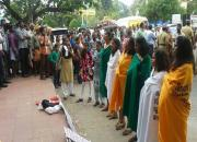 women conduct nude protest in kochi against up rape