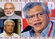 Sitaram Yechury, Prakash Karat, Modi