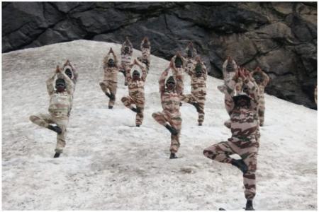 Indo-Tibetan Border Police-yoga